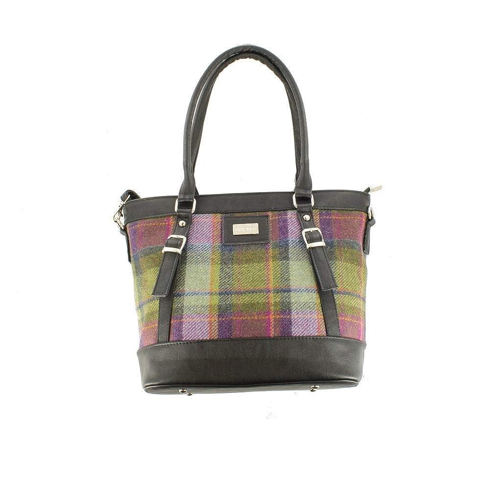 Amazon.com: Mucros Weavers Tweed & PU Leather Handbag - Made ...
