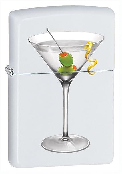 Amazon.com: Zippo BS Martini, color blanco mate Encendedor ...