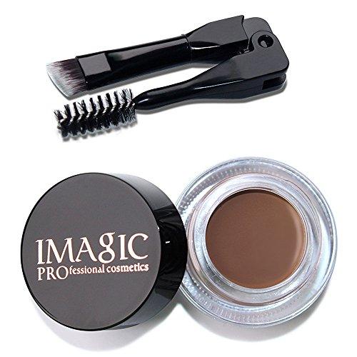 CCatyam Waterproof Eyebrow Gel, Long Lasting With Brush, Sketch Makeup Cosmetic Pen Ink Profession Tool