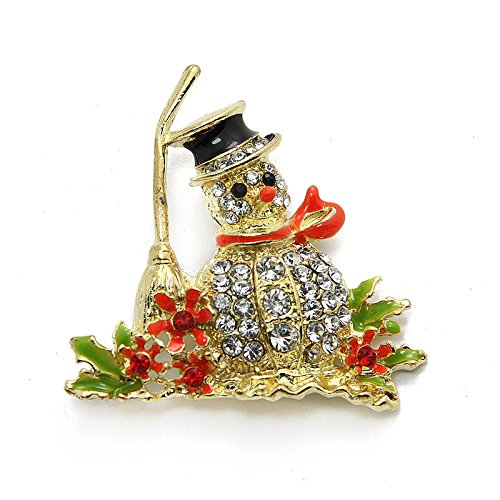 (Lovely golden snowman Chrisas ornaments diamond brooch pectoral Europe 041 )