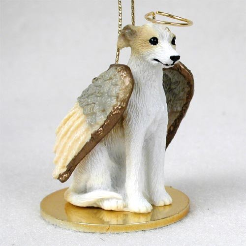 (Whippet Tan & White Pet Angel Ornament)