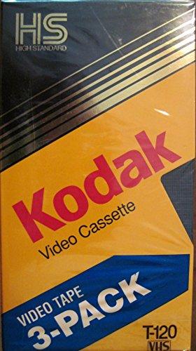 Kodak T-120 Blank Video Cassette 3-pack