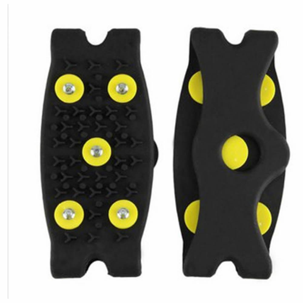 GOOTRADES Snow Ice Climbing Anti Slip Spikes Grips Crampon Cleats 5-Stud Shoes Cover(2 pairs)