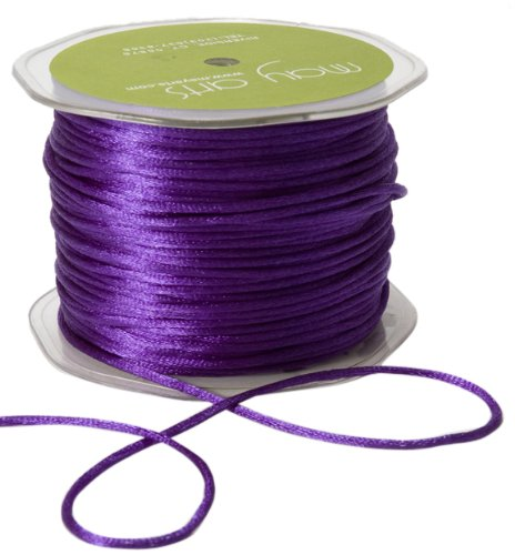 May Arts Ribbon, Violet Satin String