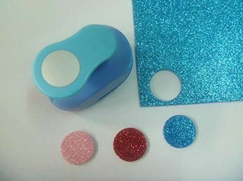 Since 1 inch(2.5cm)circle EVA foam punch round paper punch for greeting card handmade and Scrapbook Handmade craft punch,Random Color and Design (Craft Foam Circles)
