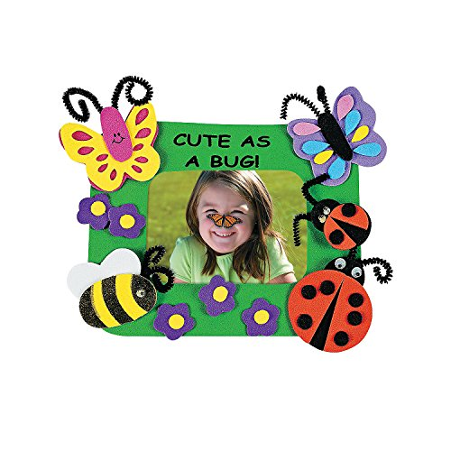 Fun Express - Cute As A Bug Picture Magnet Craft Kit - Craft Kits - Stationary Craft Kits - Frame - 12 -