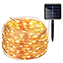 AMIR Solar Powered String Lights, 200 LED Copper Wire Lights, 72ft 8 Modes Starry Lights, Waterproof IP65 Fairy Christams Decorative Lights for Outdoor,Wedding, Homes, Party, Halloween (Warm White)