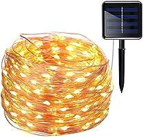 AMIR Solar Lichterkette, 20M 200 LED 8 Modus Kupferdraht Lichterketten
