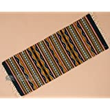 "Hand Woven Zapotec Table Runner 15""x40"" (ztr-b46)"