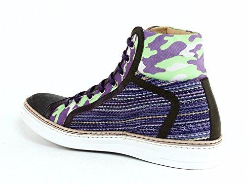 Robert Graham Mens Hizza Hi Top Fashion Sneaker Blu