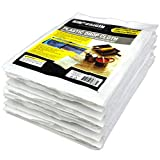 20 Piece Multi Use Great Value,Drop Cloth,Plastic Drop Cloth, for Paint Roller, 9x12Feet, Home Repair Tools,Tools,Tool Kits,Tools