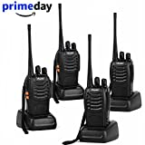Ansoko Long Range Walkie Talkies Amateur Two Way Radios FRS/GMRS 16-Channel 2-Way Radio (Pack of 4)