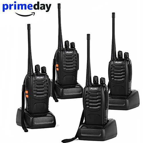 Ansoko Long Range Walkie Talkies Amateur Two Way Radios FRS/GMRS 16-Channel 2-Way Radio (Pack of 4) (Range Long Handheld)