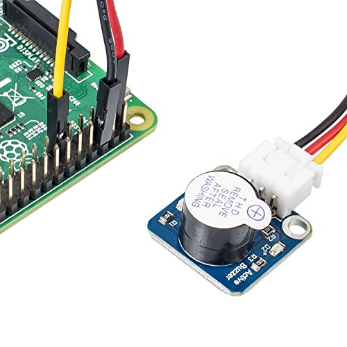 Active Piezo Buzzer Module - SunFounder DC 3.3-5V Low Level Trigger Magnetic Beep Alarm Sensor Module Electronic for Arduino and Raspberry Pi