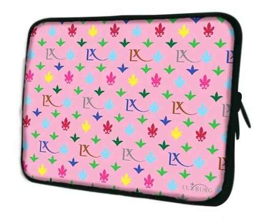 Luxburg® Design Laptoptasche Notebooktasche Sleeve für 17,3 Zoll, Motiv: Igel undercover LX Muster pink