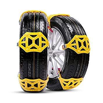 MASO Snow Chains 6Pcs Anti-Skid Snow Chains for Tyres Portable Easy to Mount Emergency Traction Car Snow Tyre Chains Universal for Tyres Width 165-285mm