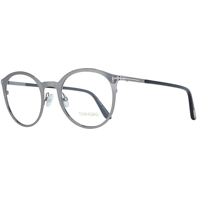 b8e993af32 Tom Ford Brille FT5465 008 50, Monturas de Gafas Unisex Adulto, Plateado  (Gunmetal), 50.0: Amazon.es: Ropa y accesorios