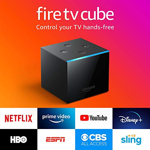 Certified Refurbished Fire TV Cube, hands-free with Alexa built in, 4K Ultra HD, streaming media player, released 2019