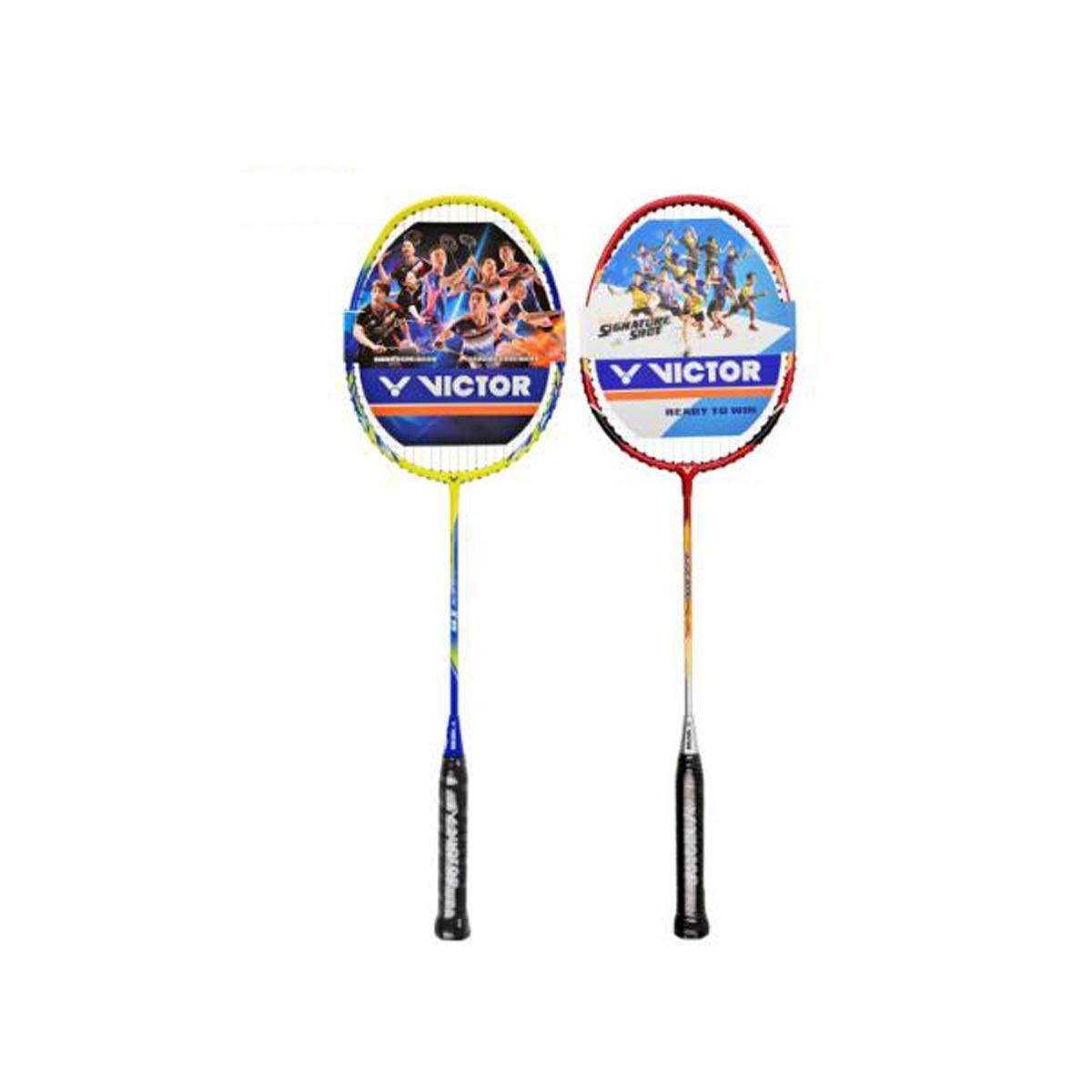 Tongboshi Badminton Racket, Double Shot, Offensive Full Carbon Badminton Racket, Aluminum Alloy Badminton Racket Badminton Racket, (Edition : C)