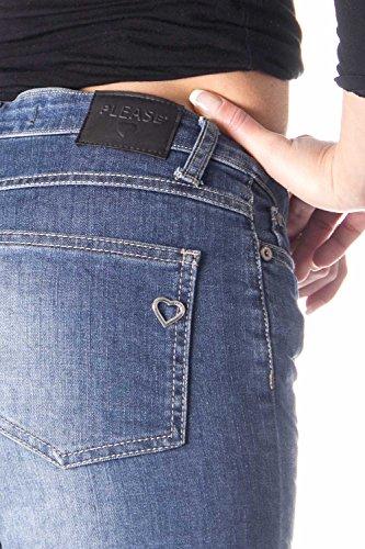 Blue Please P66 Denim Donna Scuro Stropicciato Jeans P66mbq2dpv x6RqBA6X