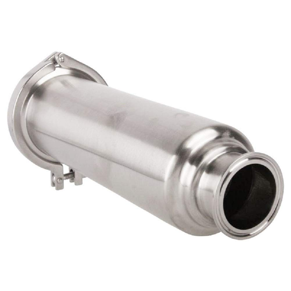KOLERFLO 1-1/2 Inch Filter Tri-Clamp Sanitary SS304 Inline Straight Strainer with 100 Mesh Stainless Steel Screen