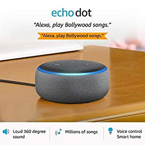 Echo Dot (3rd Gen) – Smart speaker with Alexa (Grey)