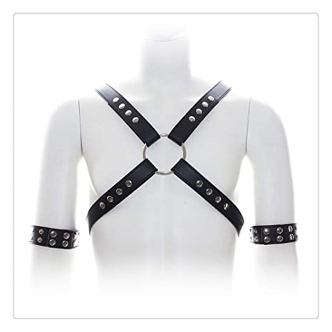 Arnés de cuero para hombres - Cinturón de arnés de medio cuerpo de ...