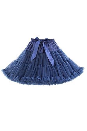 Mujeres Tutú Enaguas 1950 S Vintage Ballet Burbuja Faldas Tul Azul ...