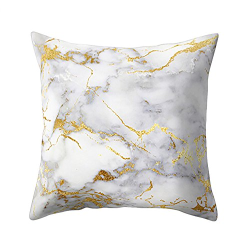 (iZHH Marble Texture Throw Pillow Case Cushion Cover 18 x 18 inchSofa Home Decor)