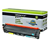 GREENCYCLE 1 Pack Cyan Toner Cartridge Compatible for HP 201A CF401A Color Laserjet Pro M252dw Laser Printer