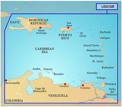 Southeast Caribbean Garmin BlueChart G2 Vision HD VUS030R microSD//SD