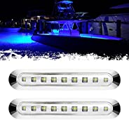 PSEQT 3.8'' Waterproof Boat Marine LED Lights Courtesy Interior Deck Light Navigation Transom Stern Ca