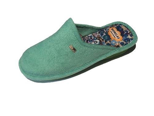 nuevo concepto cc3fd 5e89c Zapatillas de Estar por casa/Mujer/Biorelax/Cuña 3cm