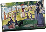 Georges Seurat Sunday Afternoon on the Island of La Grande Jatte canvas print artwork & wall art pictures, ready to hang Panther Print Canvas prints are of high quality and come framed on a 18MM Pine wood lightweight frame with the canvas stretch...