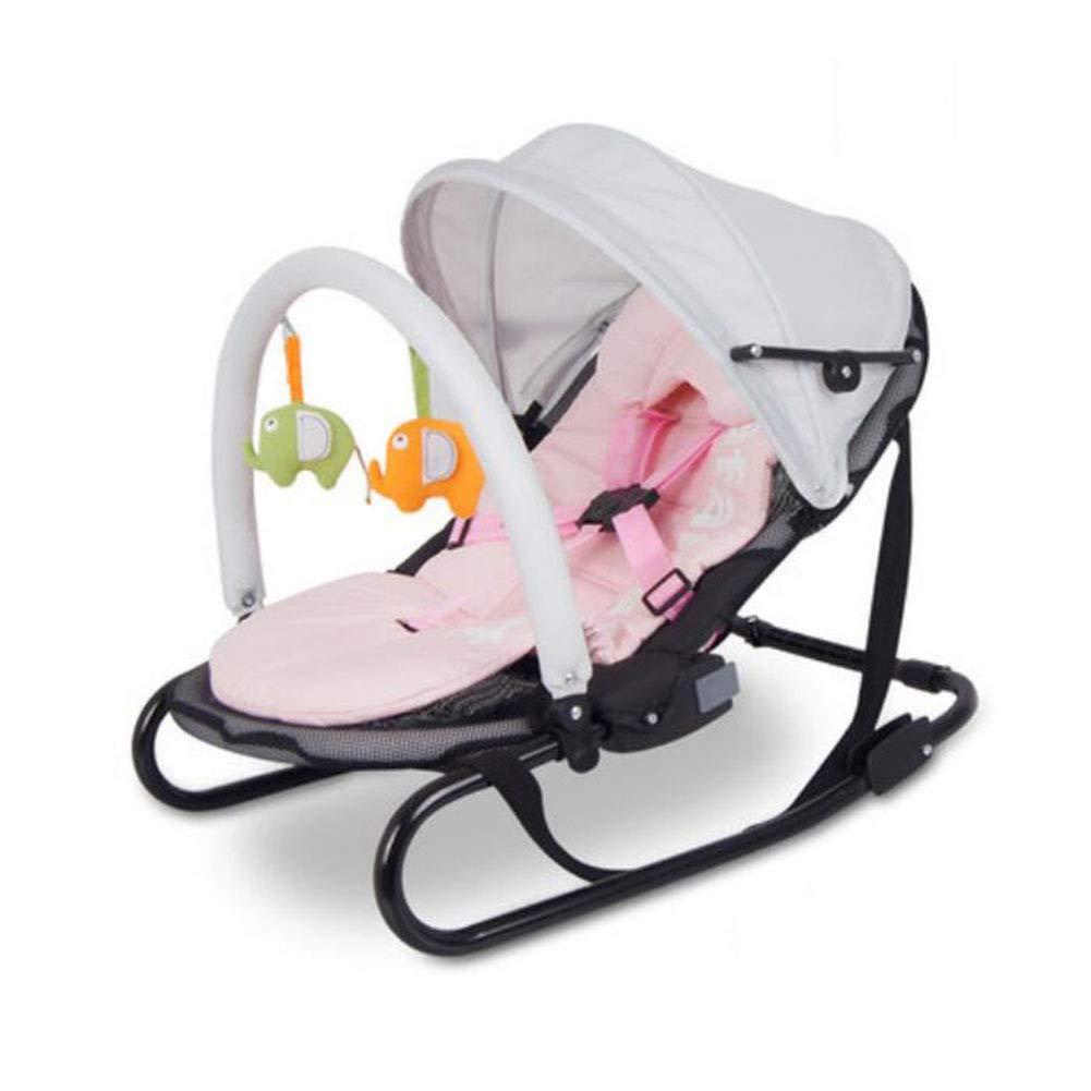 FH ベビーロッキングチェアリクライニングチェア新生児用クレードルベッド (色 : Pink)  Pink B07MQTXXXT