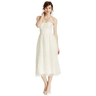 0a003c8b4f87 Melissa Sweet Short Lace Wedding Dress Style MS251101 at Amazon ...