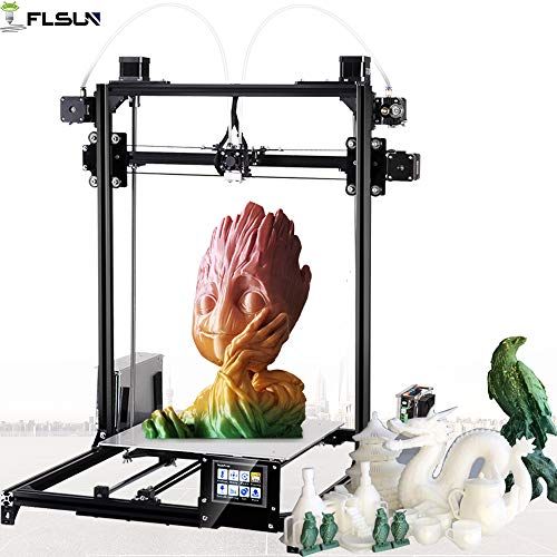 FLSUN 3D Printer Large Prusa i3 Diy Kit With Dual Extruder Model Touch Screen Auto leveling System...