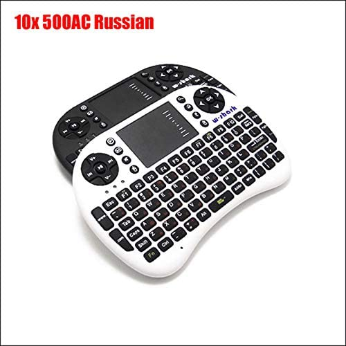Calvas 500AC Russian Wireless Mouse and Keyboard Squirrel Fly Air Mouse Remote Control Computer Android Set Top Box Projector Color: Black