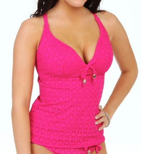 Haut de maillot de bain Freya Tankini Spirit Corail Hot Pink