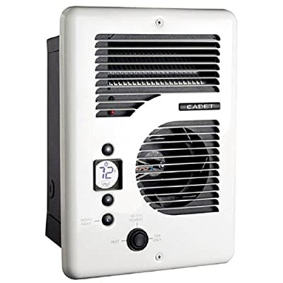 Cadet CEC163TW Energy Plus multi-watt 120/240V wall heater with electronic thermostat
