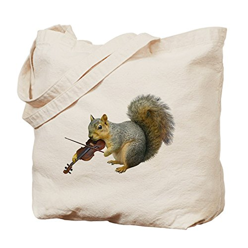 CafePress Unique Design Squirrel Violin Tote Bag - Standard Multi-color by CafePress