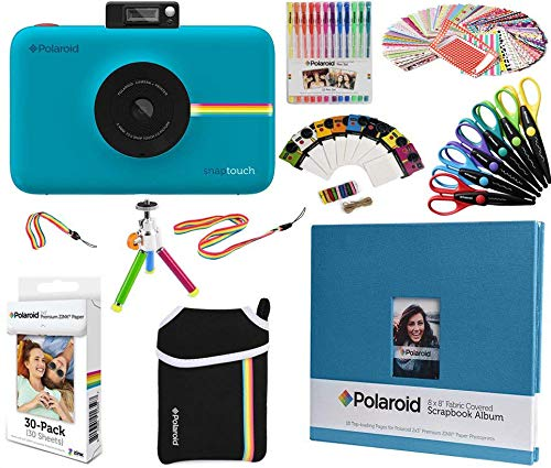 Polaroid Snap Touch Instant Camera Gift Bundle + ZINK Paper (30 Sheets) + 8x8