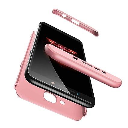 Bigcousin Funda para Samsung Galaxy J4 Prime / J4 Plus, Funda 360 Grados Protección Ultra Slim Cubierta PC Hard Case + Cristal Templado,3 in 1 Carcasa ...