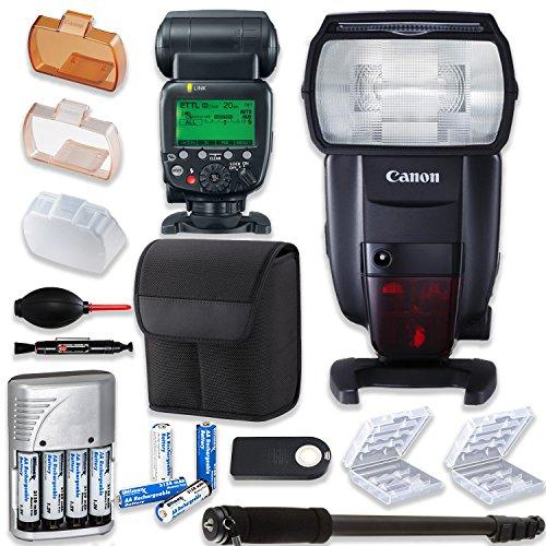Canon Speedlite 600EX II-RT Flash + Canon Case +Bundle