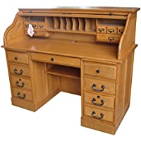 54 in. Mylan Roll Top Desk in Harvest Oak