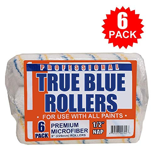(True Blue Professional Paint Roller Covers, Best for All Types of Paint (6, 9