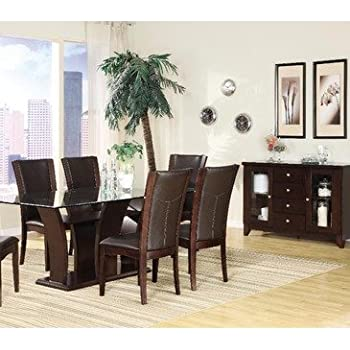 homelegance dining room sets | Amazon.com - Homelegance Daisy 7 Piece Rectangular Dining ...
