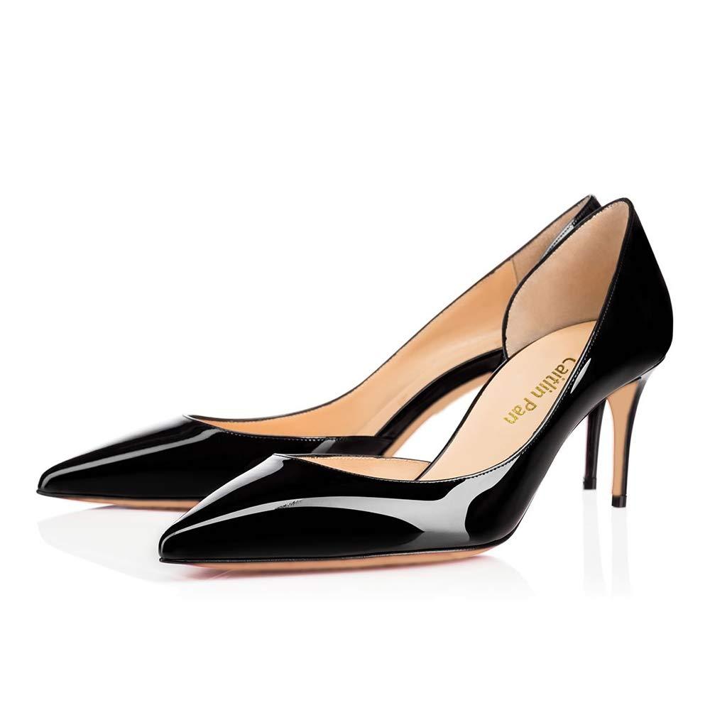 Caitlin/10 Pan Femmes EscarpinsTalons Hauts Black Slip on Bout/12 Pointu/Bout Ouvert Semelle Rouge 6,5CM/10 CM/12 CM Pompes Talon Aiguille Chaussures de Bal Black Patent-6.5cm/Semelle Rouge 6d142db - latesttechnology.space