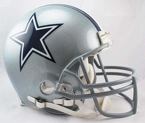 Dallas Cowboys Riddell Full Size Authentic NFL Pro Football Helmet - New in Riddell Box -
