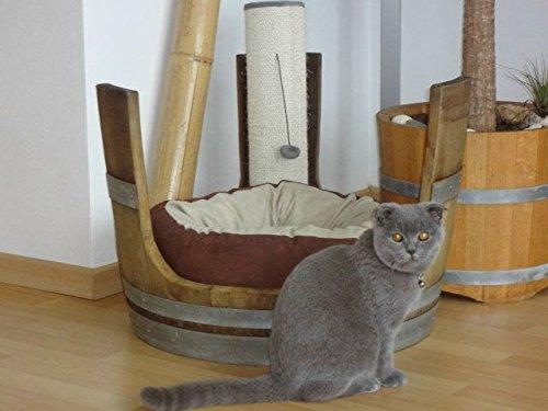 JUNIT Weinfass- Katzen- / Hunde Hocker für Katzenkissen Katzenbaum